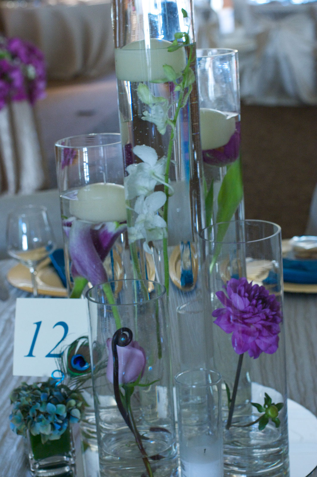 Flowers & Decor, pink, Candles, Flowers, And, Floating, Vases, Victorias florals
