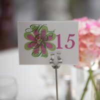 Reception, Flowers & Decor, Stationery, pink, Invitations, Table Numbers, Flower, Monogram, Table, Table number, Custom monogram, Double trouble designs-custom monograms and more, Wedding monogram