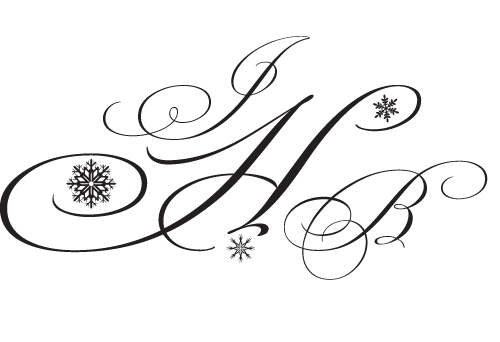 Stationery, white, Winter, Invitations, Monogram, Custom monogram, Double trouble designs-custom monograms and more, Wedding monogram