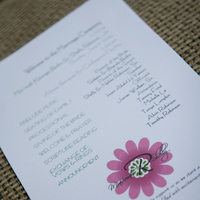 Ceremony, Flowers & Decor, Stationery, pink, Invitations, Flower, Monogram, Program, Double trouble designs-custom monograms and more