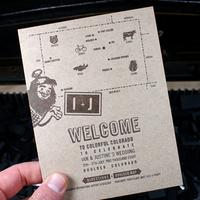 Reception, Flowers & Decor, Stationery, white, blue, brown, invitation, Invitations, Map, Custom, Letterpress, Illustration, Smokeproof press