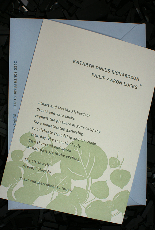Stationery, white, blue, green, invitation, Invitations, Letterpress, Botanical, Smokeproof press