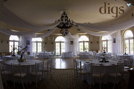 Reception, Flowers & Decor, white, Wedding, Swag, Ceiling, Green orchid events