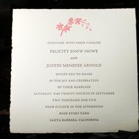 Stationery, white, pink, brown, invitation, Square, Invitations, Letterpress, Botanical, Smokeproof press, Medioevalis, Italian paper