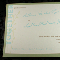 Stationery, white, pink, green, brown, invitation, Invitations, Letterpress, Botanical, Illustration, Mounted, Smokeproof press