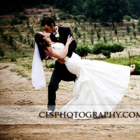 Christine lee smith photography, Bride and groom in the field