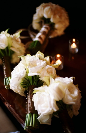 white, Bridesmaid, Bouquets