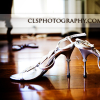 Brides shoes, Christine lee smith photography