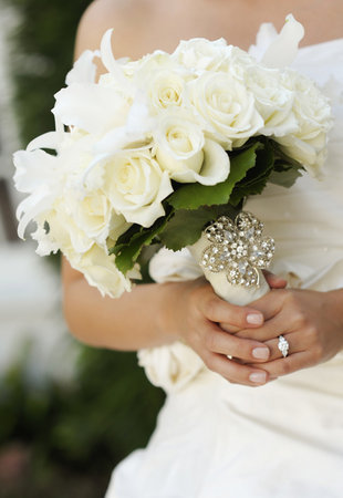 Beauty, white, Feathers, Roses, Bouquet