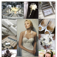 Inspiration, Reception, Flowers & Decor, Bridesmaids, Bridesmaids Dresses, Wedding Dresses, Cakes, Fashion, white, gray, silver, cake, dress, Bridesmaid Bouquets, Winter, Flowers, Grey, Board, Holiday, Christmas, Alvina valenta, winter wedding dresses, Flower Wedding Dresses