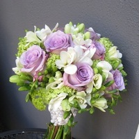 Flowers & Decor, white, purple, Bride Bouquets, Bride, Flowers, Roses, Bouquet, Orchids, Designs by courtney