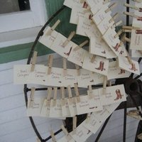 Stationery, brown, Escort Cards, Western