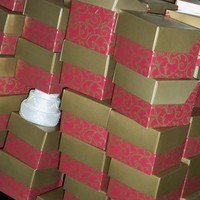 Reception, Flowers & Decor, Favors & Gifts, red, gold, favor, Box