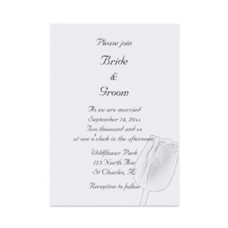 Flowers & Decor, Stationery, white, black, invitation, Invitations, Flower, Black and white, Floral, Tulip, Wedding invitation, A wedding collection by lora severson photography, Floral wedding, Tulip wedding, Spring wedding