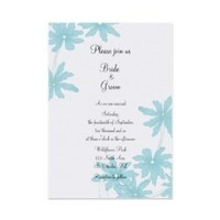 Flowers & Decor, Stationery, white, blue, invitation, Invitations, Flower, Wedding, Floral, Daisies, A wedding collection by lora severson photography, Floral wedding, Daisy wedding