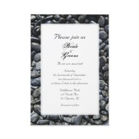 Stationery, white, black, invitation, Modern, Modern Wedding Invitations, Invitations, Unique, Wedding invitation, Zen, Natural, Rocks, Contemporary, Stones, A wedding collection by lora severson photography, Pebbles