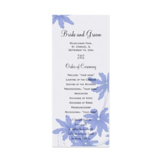 Ceremony, Flowers & Decor, Stationery, white, blue, Invitations, Flower, Program, Floral, Daisy, Wedding program, Daisies, Summer wedding, A wedding collection by lora severson photography, Floral wedding, Spring wedding, Daisy wedding, Order of ceremony