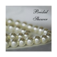 Stationery, white, invitation, Invitations, Bridal Shower, Pearls, Shower, Bridal shower invitation, A wedding collection by lora severson photography, String of pearls, Pearl necklace