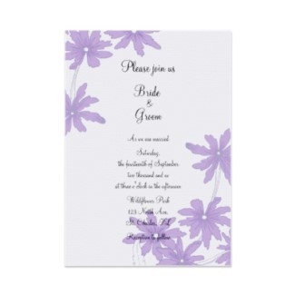 white, purple, Invitations, Flower, invitation, Floral, Daisy, Daisies, Wedding invitation, A wedding collection by lora severson photography, Floral wedding, Summer wedding, Daisy wedding, Spring wedding, Stationery, Flowers & Decor