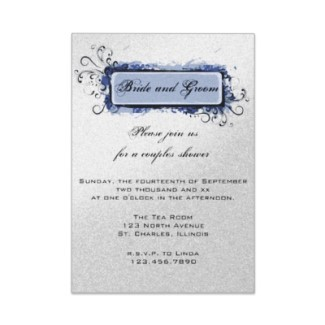 Stationery, blue, silver, invitation, Modern, Modern Wedding Invitations, Invitations, Contemporary, Abstract, Shower invitation, A wedding collection by lora severson photography, Jack and jill shower, Couples wedding shower, Couples shower, Wedding shower invitation