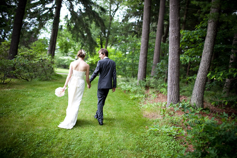 Wedding Dresses, Fashion, green, dress, Bride, Groom, Walking, Trees, Massachusetts, Sargent photoworks, Canton, Bradley estate