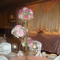 Reception, Flowers & Decor, white, pink, gold, Flowers, Flowers by amore