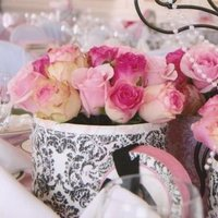 Reception, Flowers & Decor, white, pink, black, Flowers, Flowers by amore