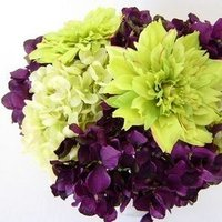 Flowers & Decor, purple, green, Flowers, Hydrangea, Dahlia