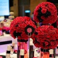 Ceremony, Reception, Flowers & Decor, pink, red, black, Ceremony Flowers, Flowers, Cathyflowercom
