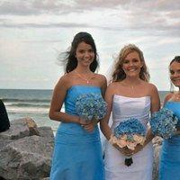 Beauty, Flowers & Decor, Jewelry, Bridesmaids, Bridesmaids Dresses, Wedding Dresses, Fashion, white, blue, dress, Makeup, Bridesmaid Bouquets, Flowers, Wedding, Hair, Bridal, Artist, Makeup artist - stephanie mazzeo, Flower Wedding Dresses