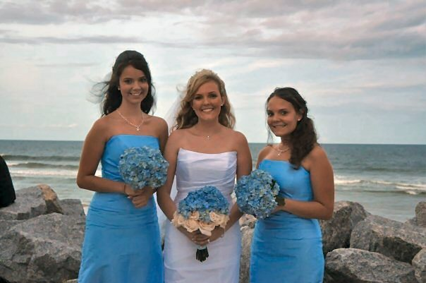 Beauty, Flowers & Decor, Jewelry, Bridesmaids, Bridesmaids Dresses, Wedding Dresses, Fashion, white, blue, dress, Makeup, Bridesmaid Bouquets, Flowers, Wedding, Hair, Bridal, Artist, Makeup artist - stephanie mazzeo, Flower Wedding Dresses