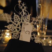 Reception, Flowers & Decor, Favors & Gifts, white, silver, Favors, Flowers, Guest, Decoration, Snowflake, Fairytalefloralcom
