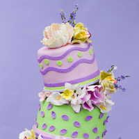Cakes, white, yellow, pink, purple, green, cake, Love in la events
