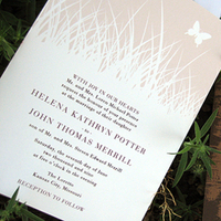 Stationery, white, purple, brown, gold, Rustic Wedding Invitations, Invitations, Wedding, Lilywillow paper press