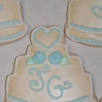 Favors & Gifts, Cakes, white, blue, silver, cake, favor, Wedding, Cookie, Bennys bakery
