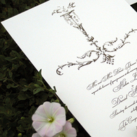 Stationery, white, silver, Classic Wedding Invitations, Invitations, Wedding, Lilywillow paper press