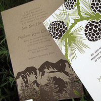 Stationery, white, green, brown, invitation, Rustic Wedding Invitations, Invitations, Wedding, Lilywillow paper press