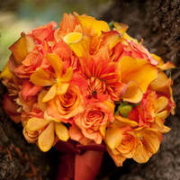 Flowers & Decor, yellow, orange, Bride Bouquets, Flowers, Bouquet, Kali kraum photography, Orange and yellow