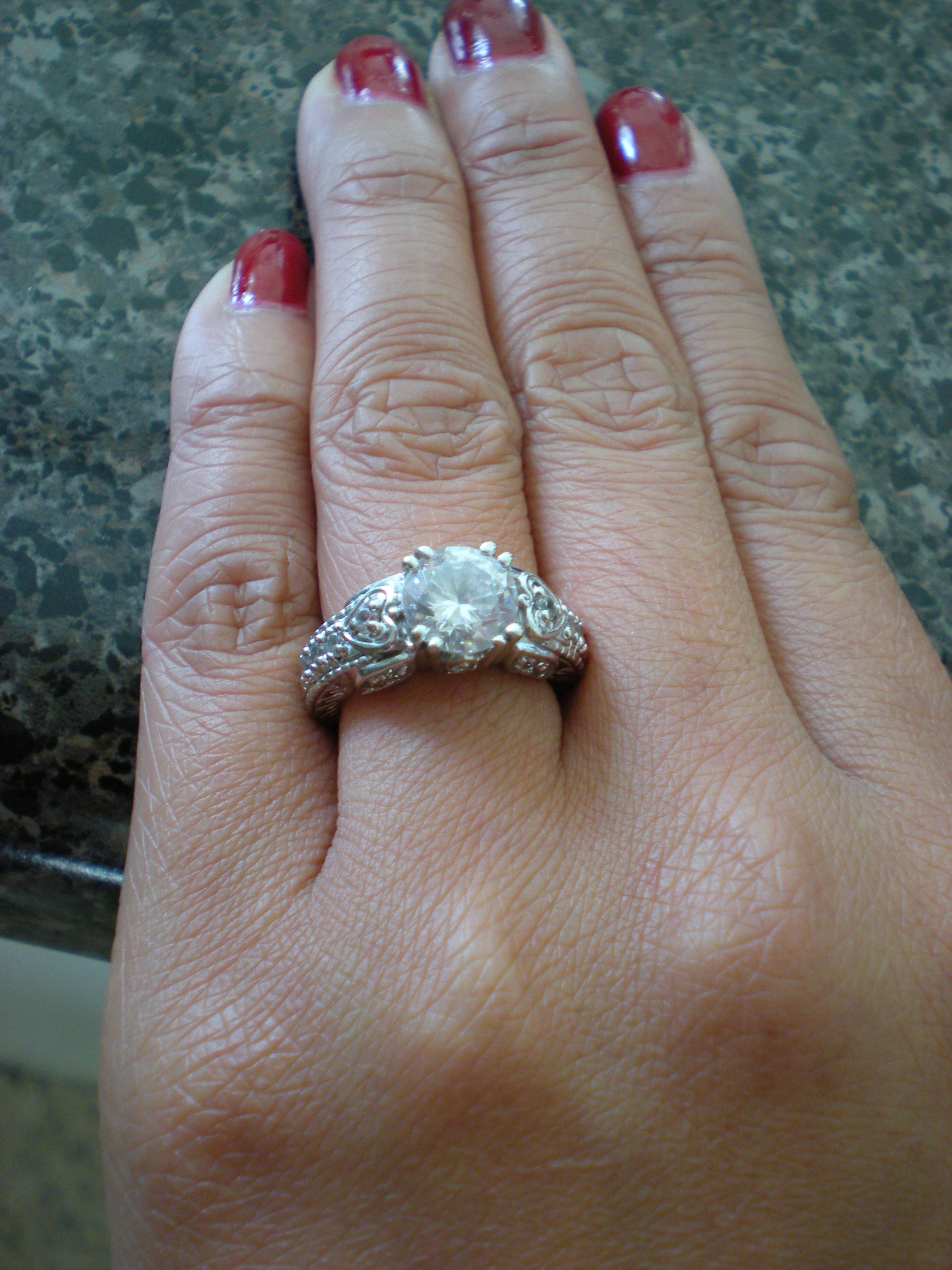 Ring, Engagement, Vintage-style