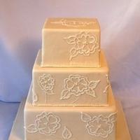 Cakes, ivory, cake, Wedding, Pearls, Embroidery, Sugar, Cake fiction, Brush