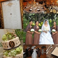Inspiration, Reception, Flowers & Decor, Bridesmaids, Bridesmaids Dresses, Fashion, ivory, brown, Bridesmaid Bouquets, Flowers, Champagne, Board, De, Lis, Fleur, Creole, Flower Wedding Dresses