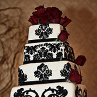 Cakes, white, black, cake, Wedding, Penäsh design co