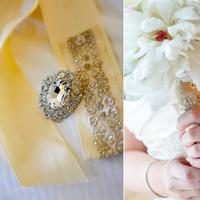 Flowers & Decor, Bridesmaids, Bridesmaids Dresses, Fashion, white, gold, Bride Bouquets, Bridesmaid Bouquets, Flowers, Bouquet, Bridesmaid, Sash, Beaded, Inspired goodness, Flower Wedding Dresses