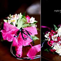 Ceremony, Flowers & Decor, pink, black, Ceremony Flowers, Bride Bouquets, Flowers, Bouquet, Triple 8 photography