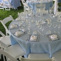 Reception, Flowers & Decor, white, blue, Centerpieces, Centerpiece, Table, Uptown events