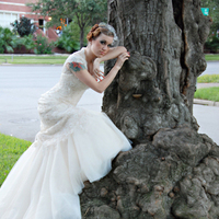 Beauty, Wedding Dresses, Shoes, Fashion, white, gold, dress, Bride, Wedding, Hair, Natural, Vail, White grace photography