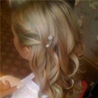 Beauty, Down, Wedding, Bridesmaid, Hair, Half