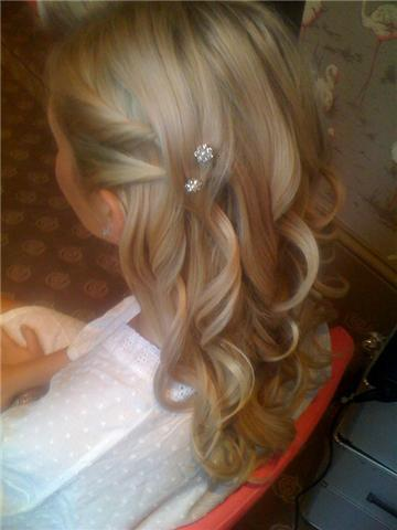 Beauty, Down, Wedding, Bridesmaid, Hair, Half