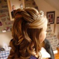 Beauty, Down, Bride, Hair, Curls