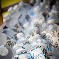 Inspiration, white, blue, black, Water, Board, Bottles